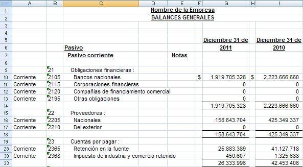 Hoja De Balance Contabilidad Excel Pdf  Buscar Con Google