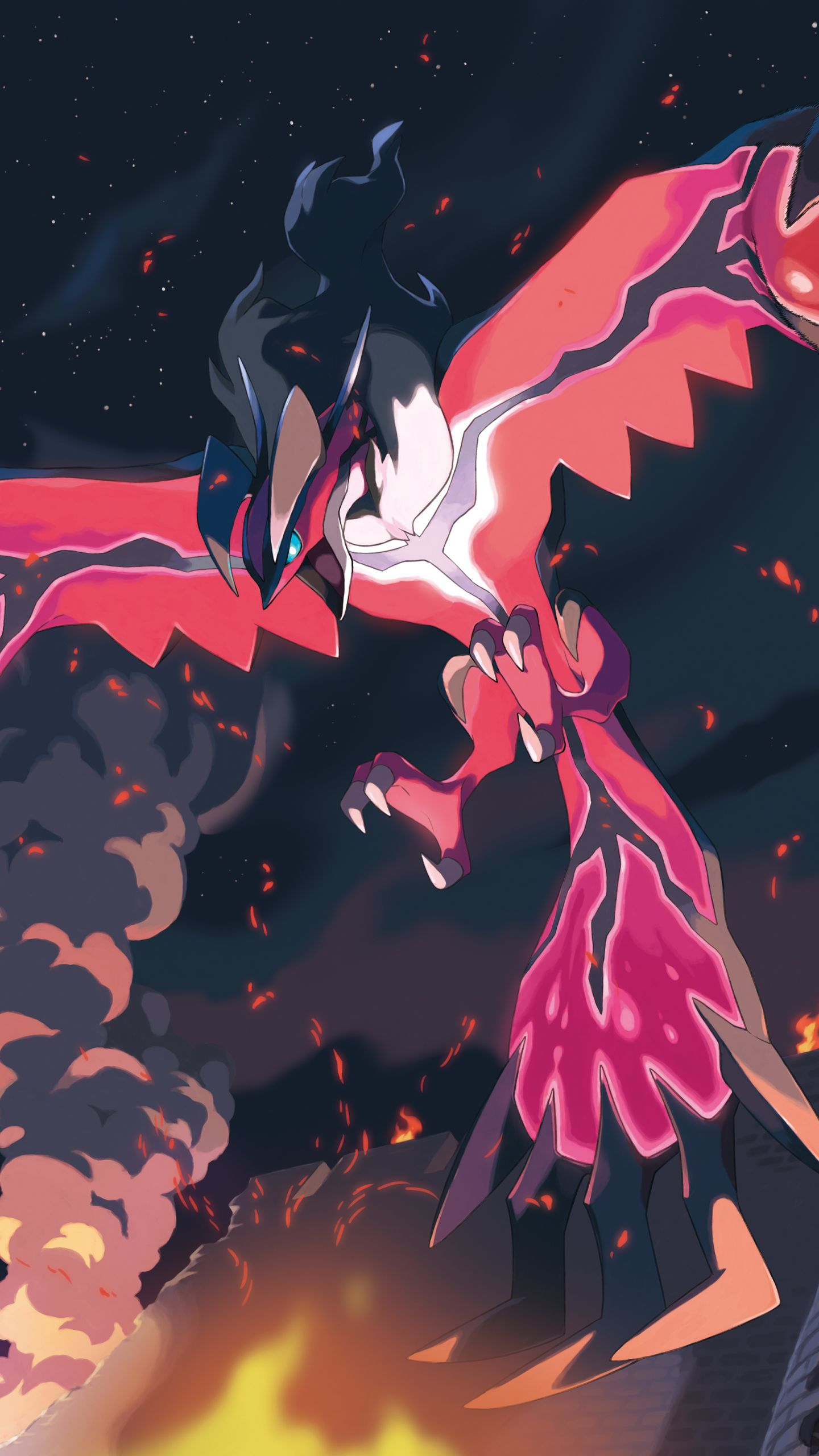 Video Game Pokemon Pokémon Yveltal Mobile Wallpaper   Pokemons   Pokémon, Mythical pokemon ...