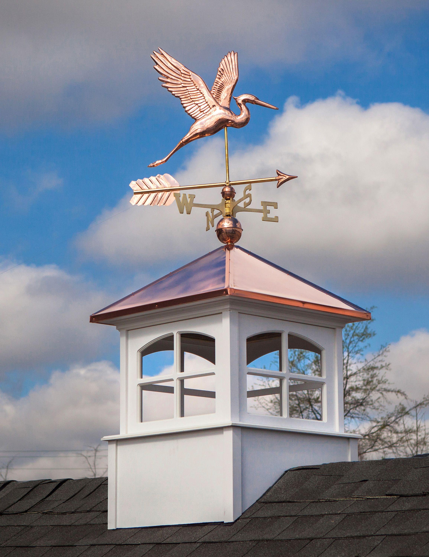 Graceful Blue Heron With Arrow Weathervane Garden Art Sculptures Copper Roof Blue Heron