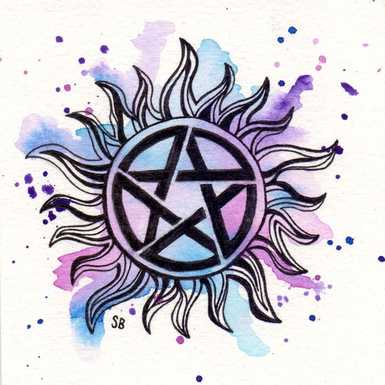 Supernatural Tattoo Watercolour by sebartwork (With