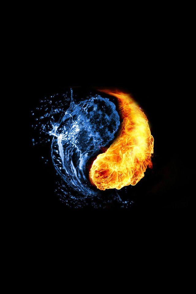 Yin Yang Iphone Wallpaper Hd Ying Yang Wallpaper Yin Yang Fire Art
