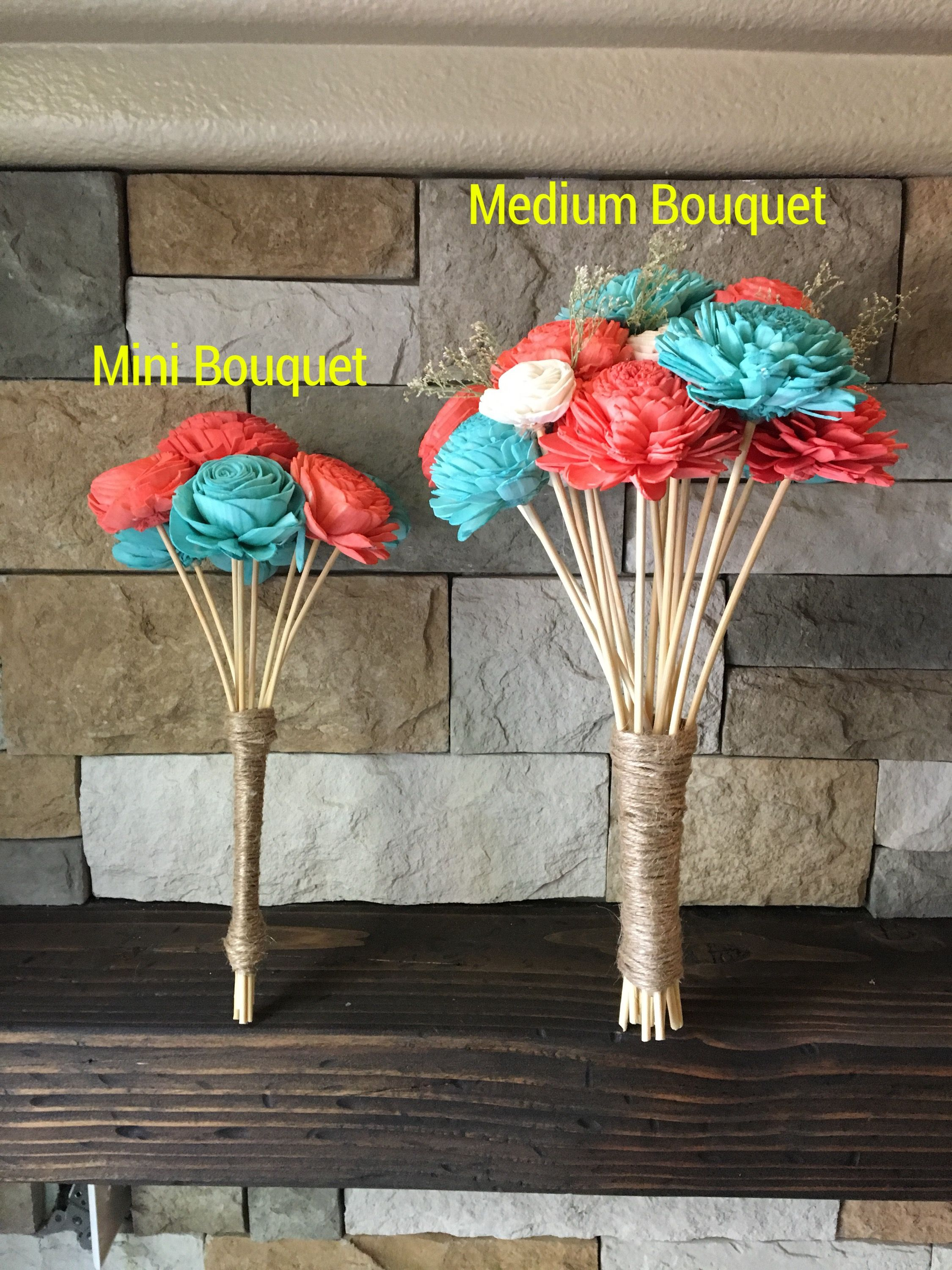 Make your own wood flower bridal bouquets. DIY kits