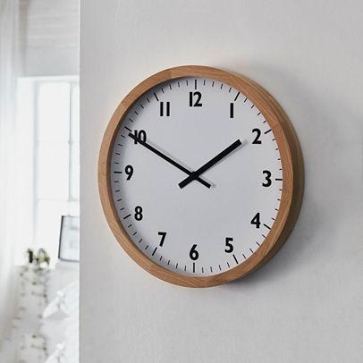 Oak Small Wall Clock