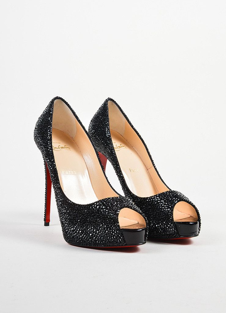 christian louboutin pigalle 120 crystal encrusted stiletto