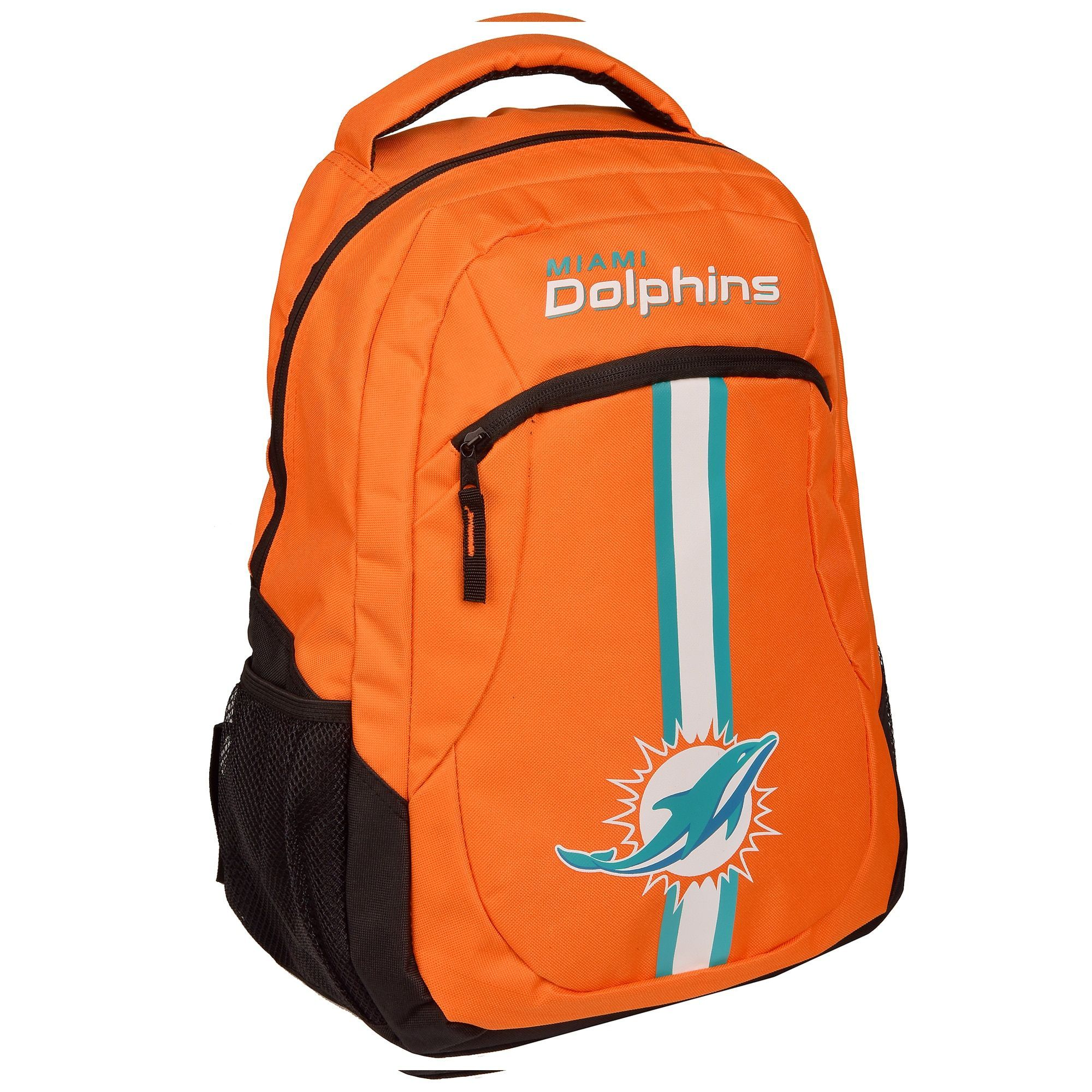 3bccddcaebe Forever Collectibles Miami Dolphins NFL Action Stripe Logo Backpack ...