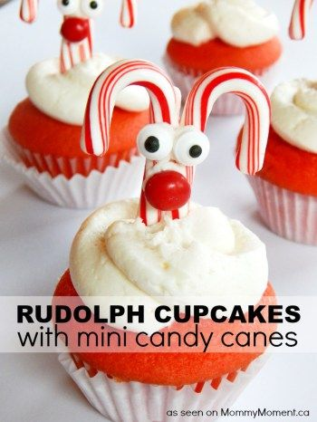 Rudolph Cupcakes - Mommy Moment || Christmas Cupcakes Kids Can Make: 15 Festive Holiday Treats! || Letters from Santa Blog