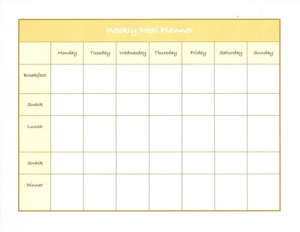 Diet Calendar Printable Weekly Meal Plan Template Weekly Meal