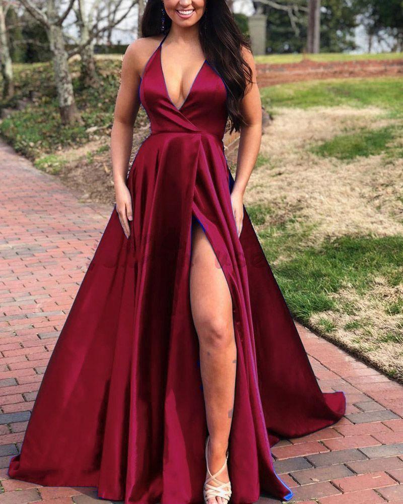 Burgundy Wine Red Prom Dress Prom Dress Lace Simple Evening Dresses Plus Size Prom Dress Promdresscasual In 2020 Evening Dresses Red Dresses Classy Prom Dresses