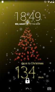 3D Xmas Tree Live Wallpaper Screenshot