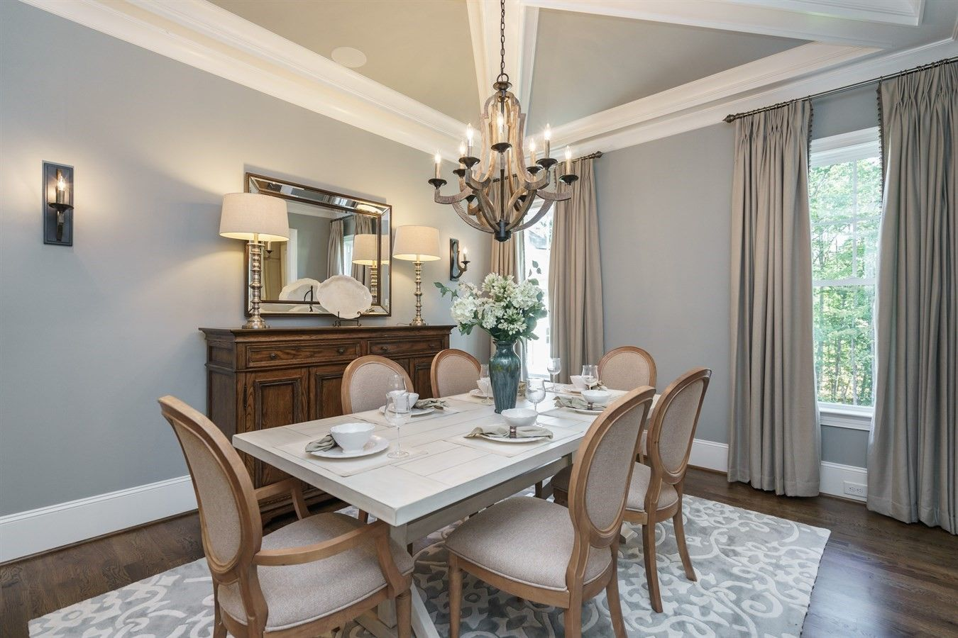 Craftmade Wood And Bronze Dining Room Chandelier Lighting