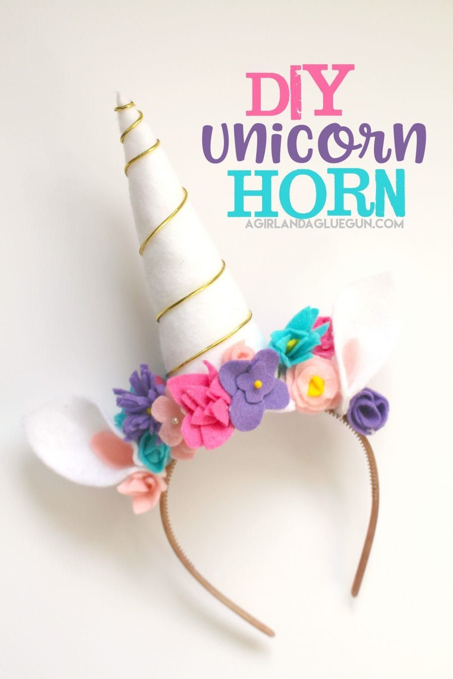 Unicorn costume DIY - A girl and a glue gun #unicorncrafts