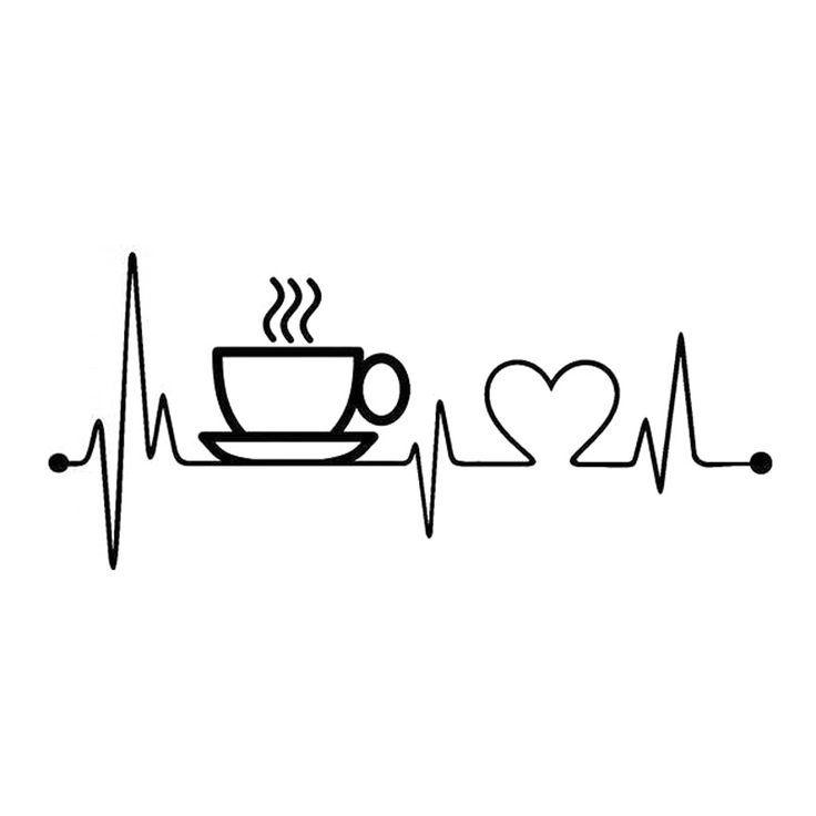 Cheap 17cm * 7.6cm Coffee Sup Heartbeat Fashion Vinyl Decal Car Accessories ...  - Printables - #17cm #76cm #Accessories #car #Cheap #Coffee #Decal #fashion #heartbeat #Printables #vinyl