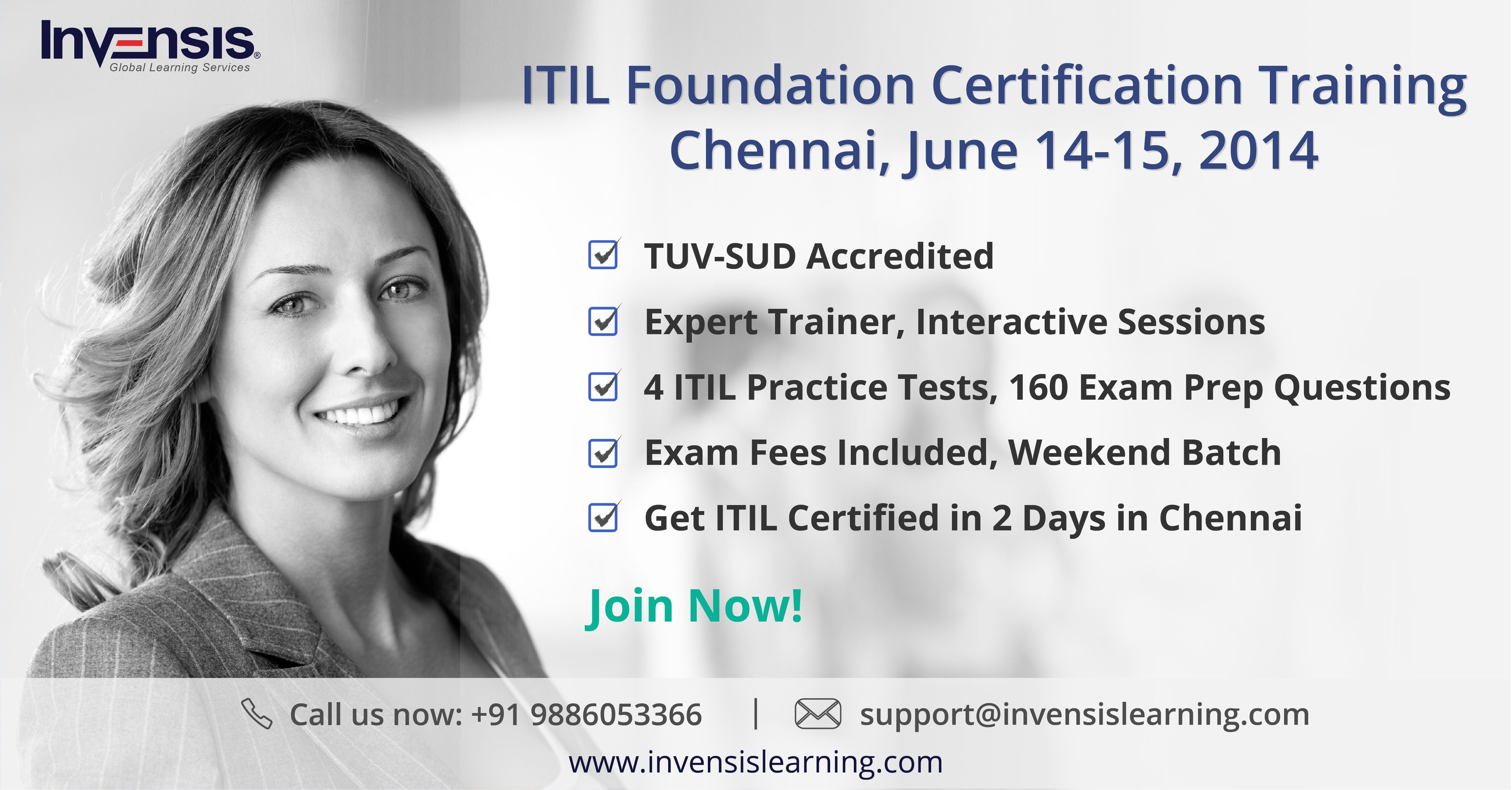 Get Itil Certified In Chennai In 2 Days This June Itil