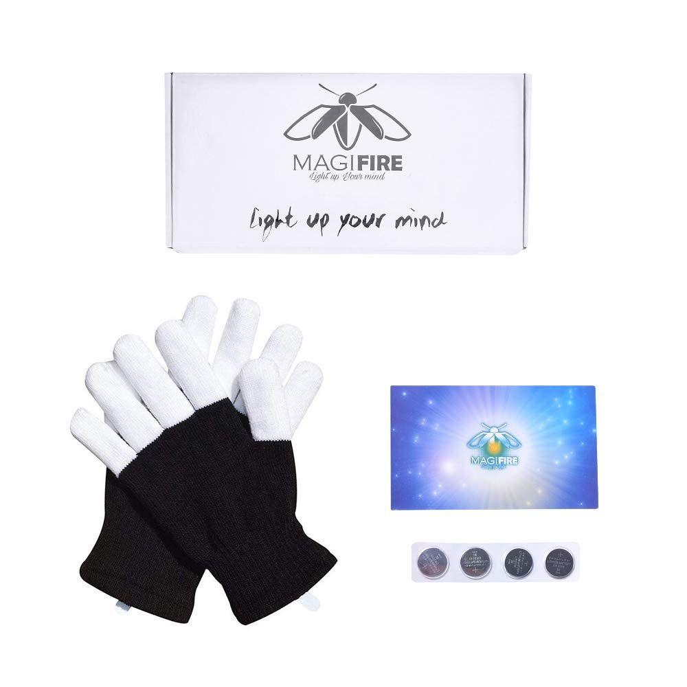 HITOP LED Light Gloves Finger Light Flashing LED Warm Gloves for ...