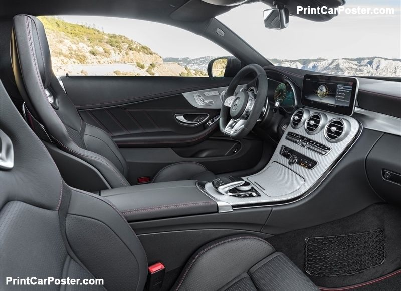 Mercedes-Benz C43 AMG Coupe 2019 poster   Mercedes AMG