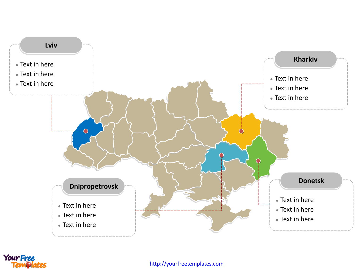Immediately free Editable Ukraine outline and political map