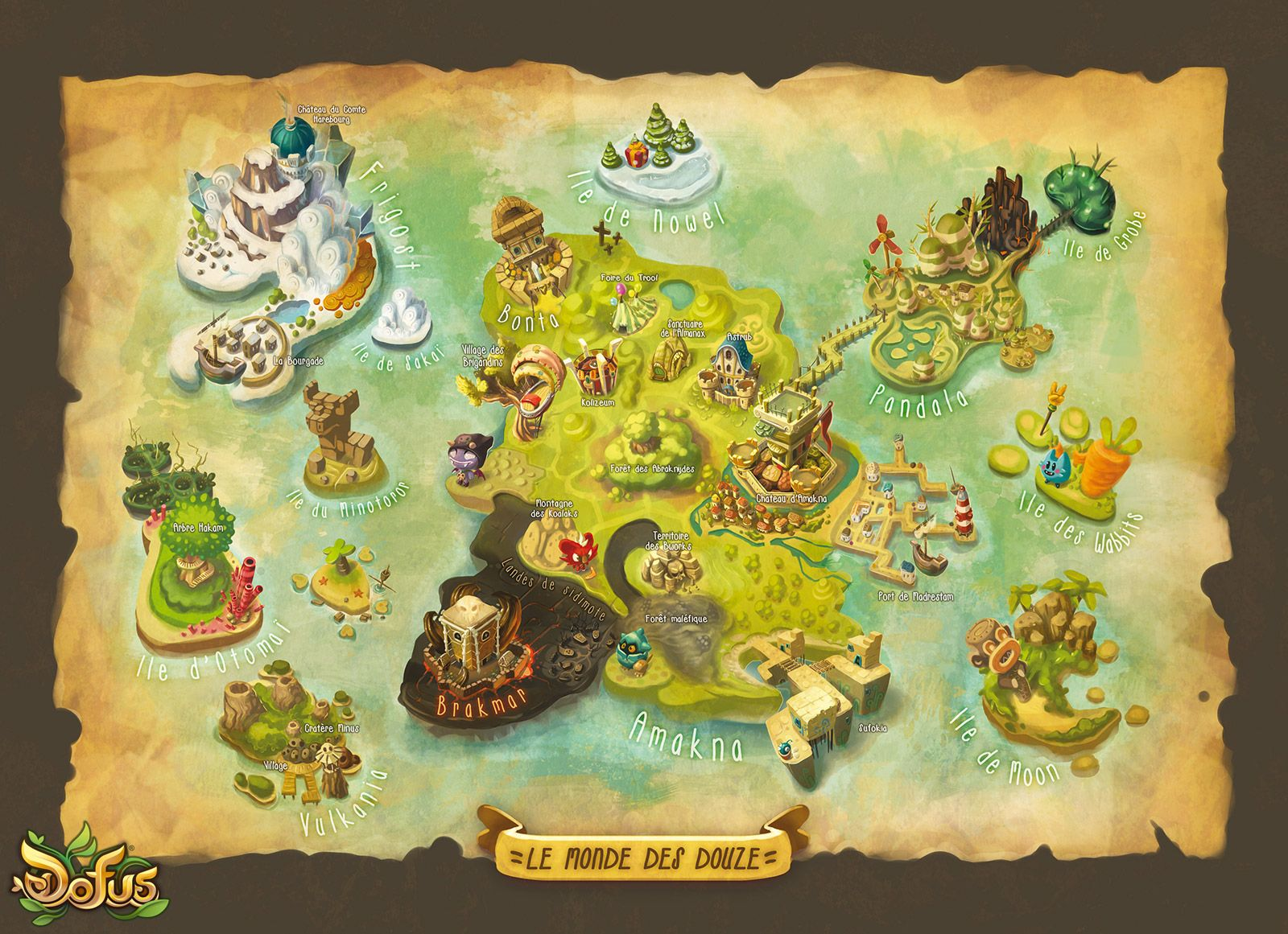 Http Www Dofus Com Fr Mmorpg Medias Illustrations 418928 Carte Monde 12 Avec Images Dofus Idees De Tatouages Ankama