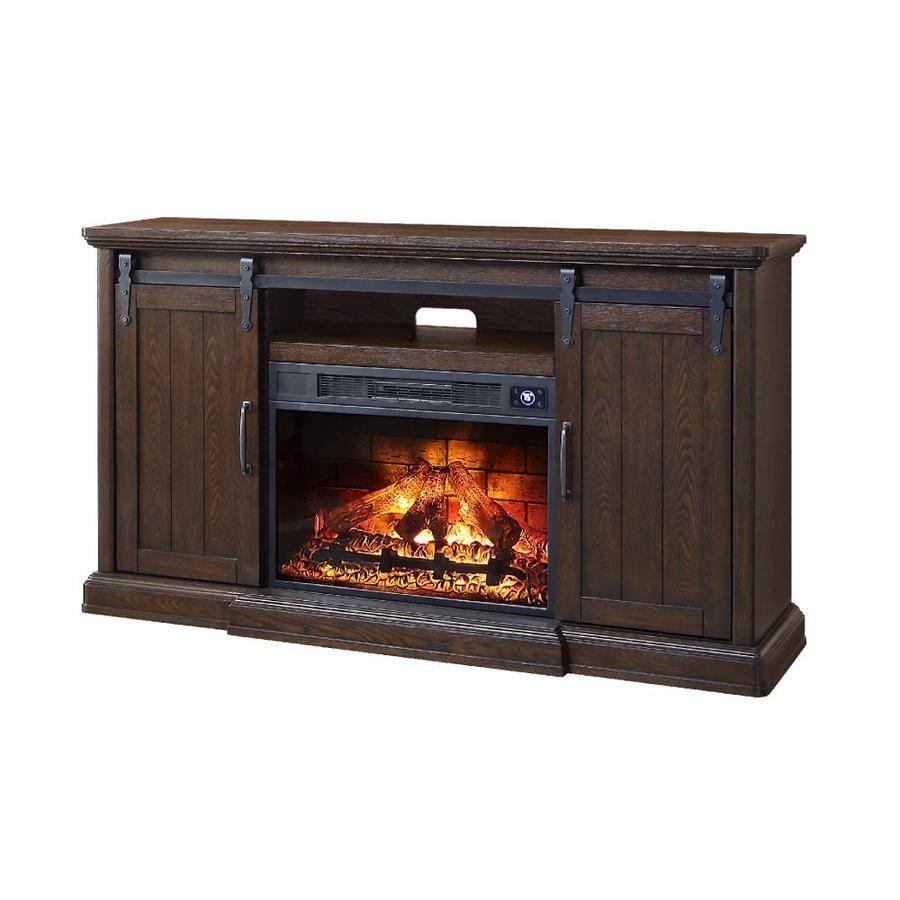 Febo Flame 62 In W Walnut Infrared Quartz Electric Fireplace F18 I