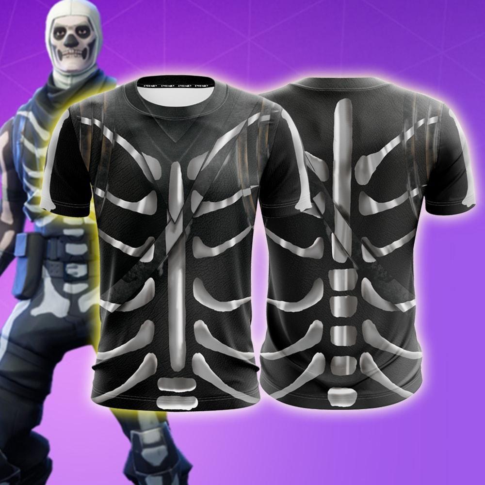 Fortnite Battle Royale Skull Trooper Skin Cosplay T Shirt