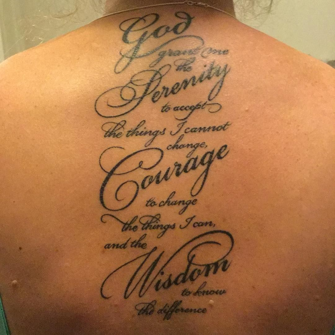 30 inspiring serenity prayer tattoo designsserenity