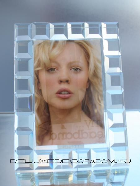 Crystal Glass Photo Frame P6139 http://deluxedecor.com.au/products-page/photo-frames/