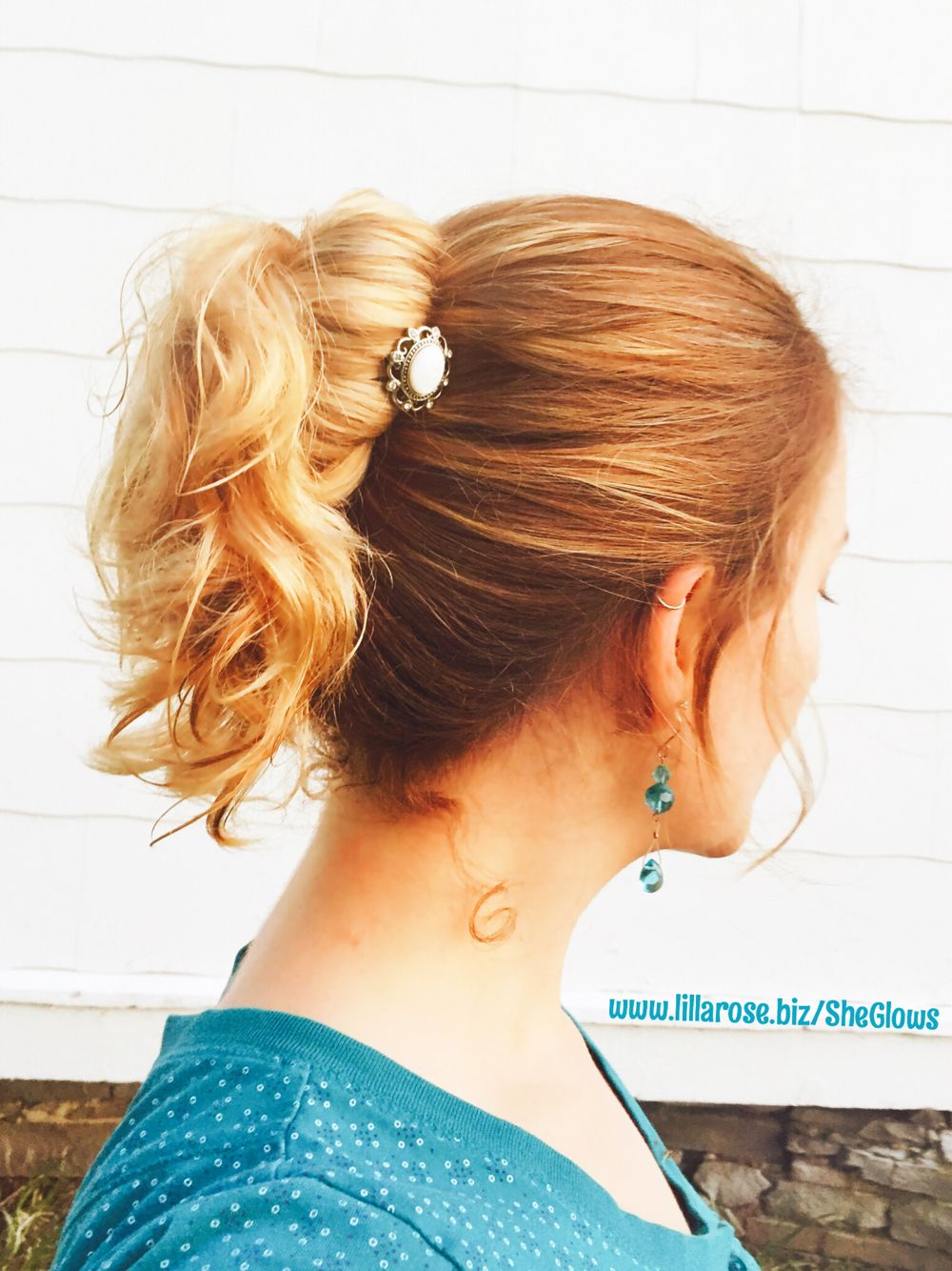 my favorite hairstyle! waist length hair in a knot bun with