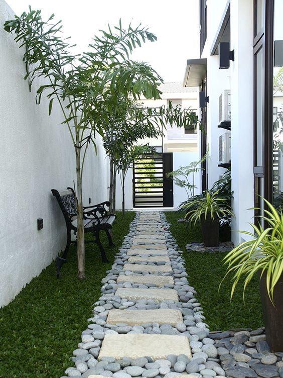 hermosas ideas de paisajismo en el patio trasero House Gardening Outdoor Backyard En 2019 Jardines