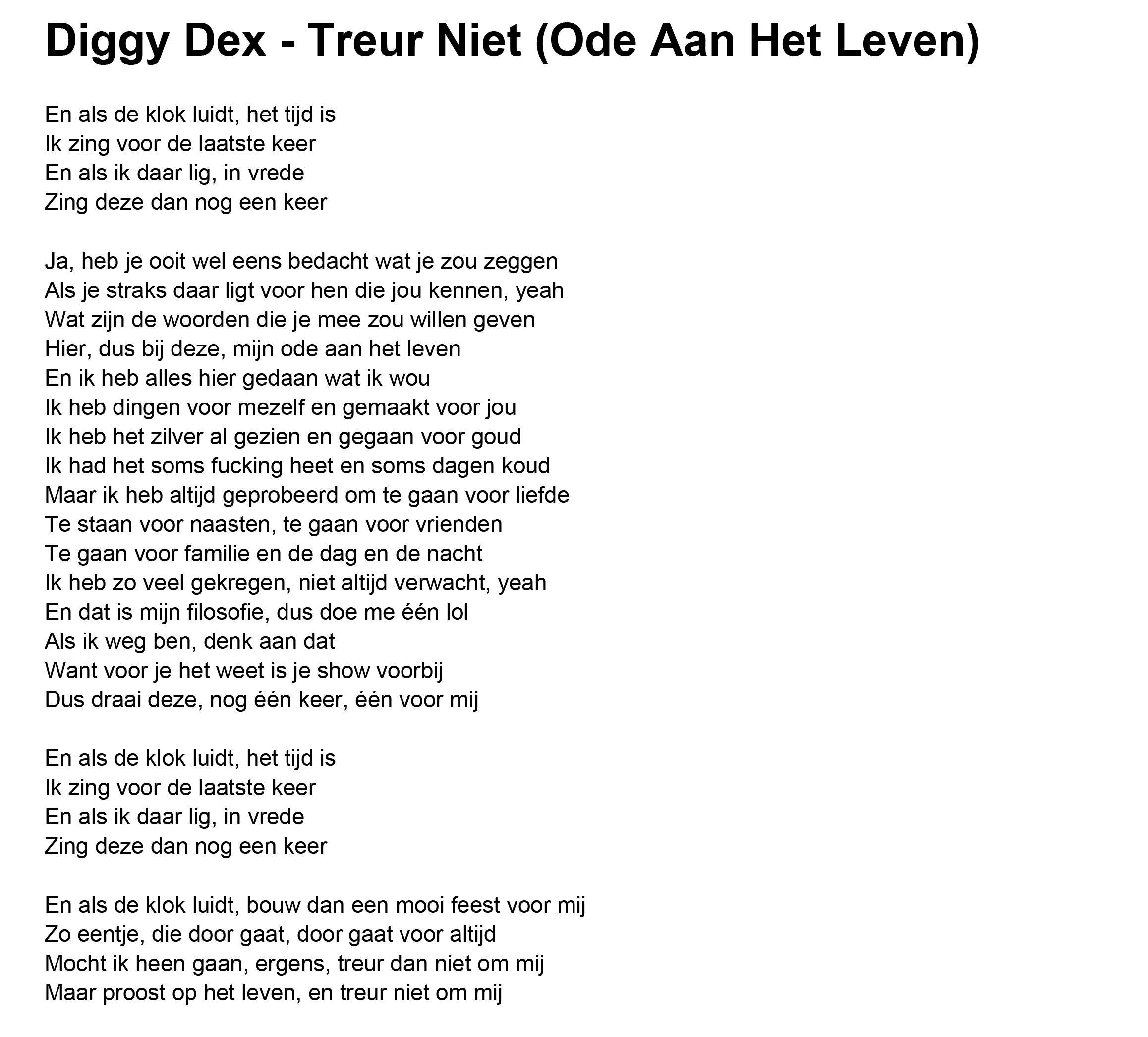 Diggy dex treur niet ode aan het leven thats life pinterest diggy dex treur niet ode aan het leven solutioingenieria Gallery