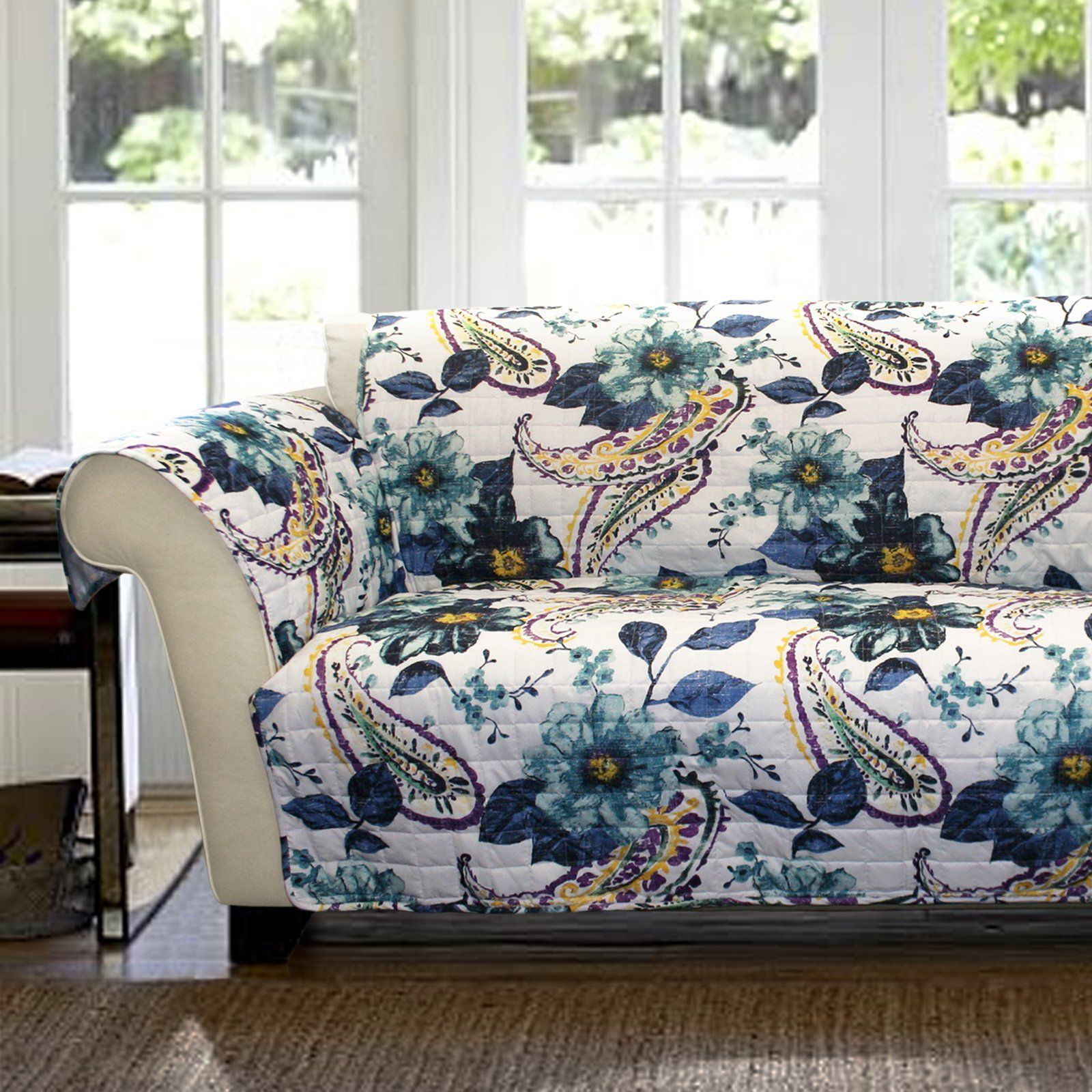 Forever New Floral Paisley Loveseat Protector - C28568P14-000