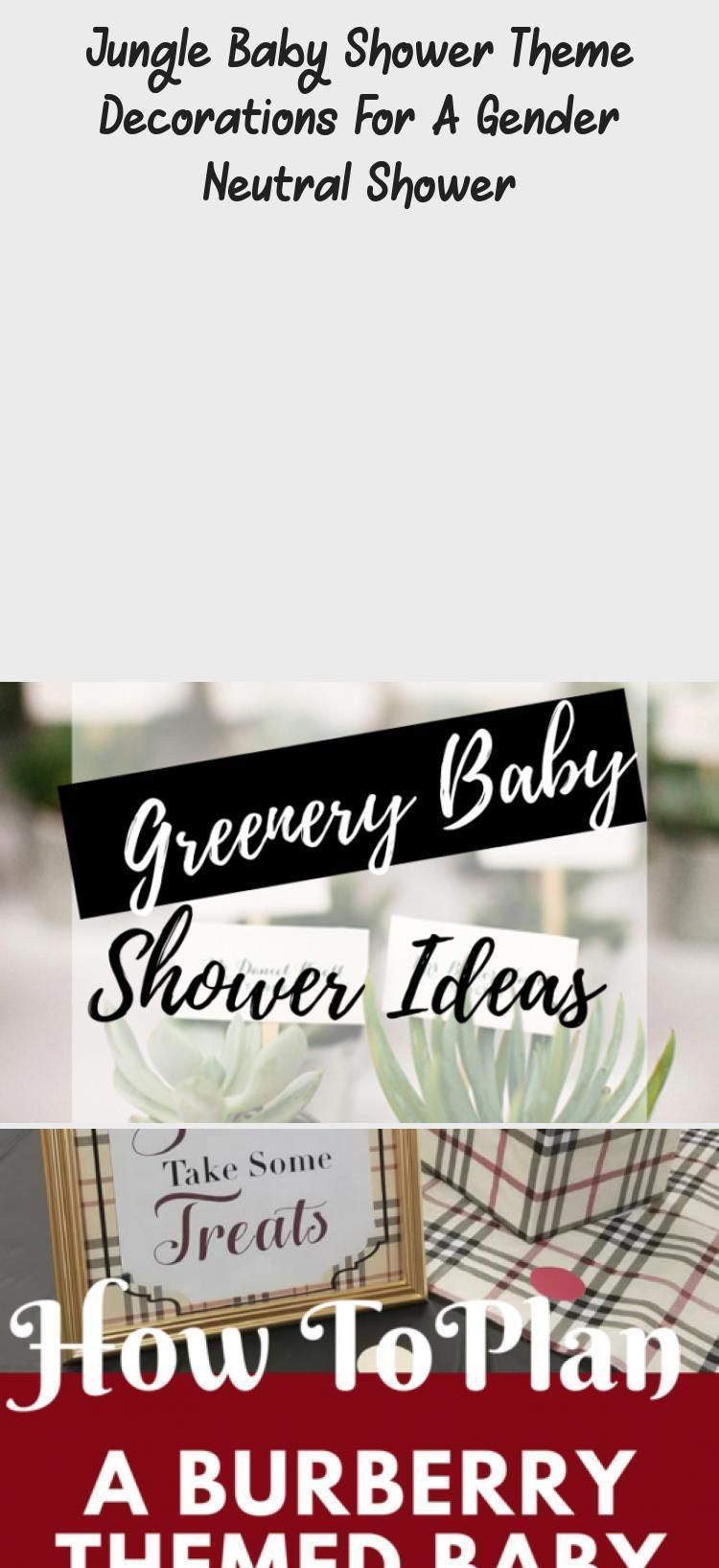 Photo of Neutral party ideas #gender Jungle Baby Shower Themed decorations for a …