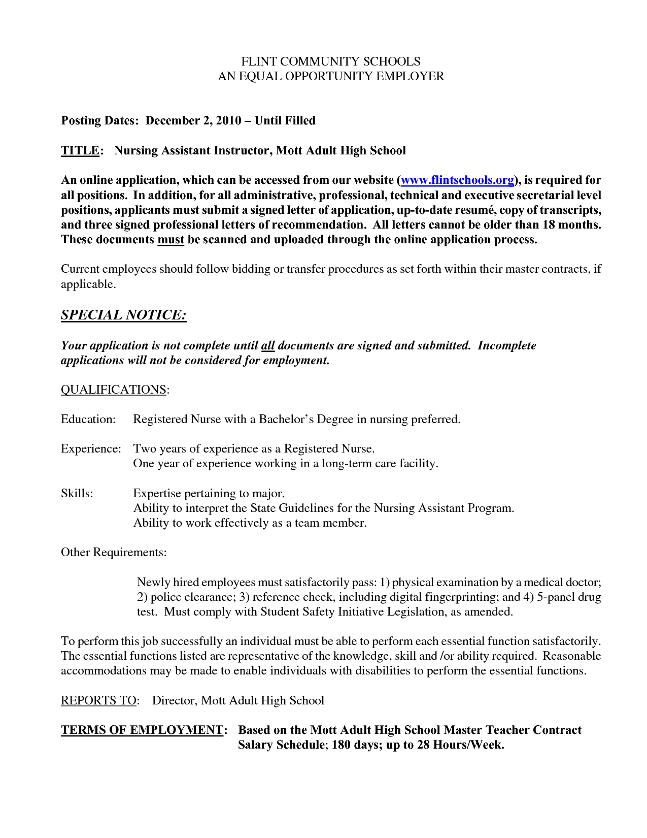 Cna Free Resume Sample Nursing Job Certified Nurse Assistant Cover
