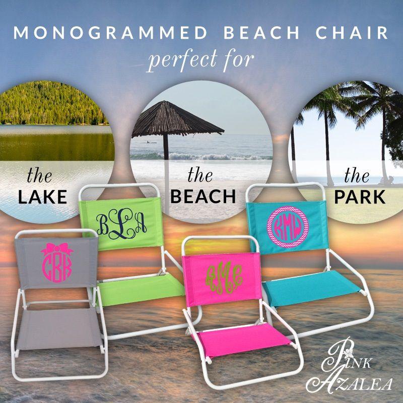 Monogrammed Beach Chairs Www Thepinkazalea Com Beach Monogram