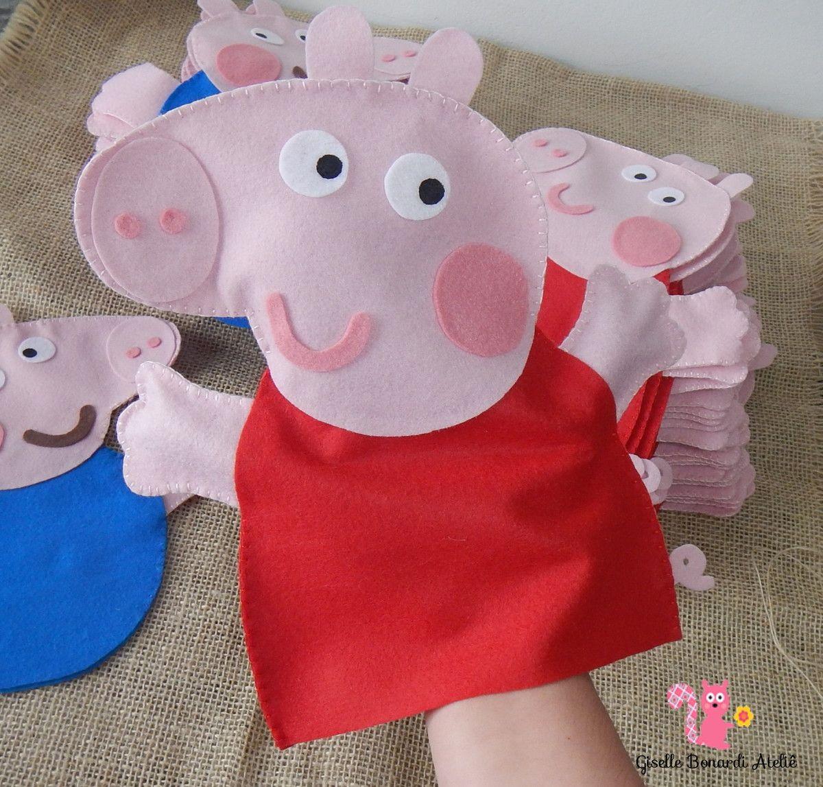 Fantoche Peppa Pig | Puppet Ideas | Titeres de tela, Peppa