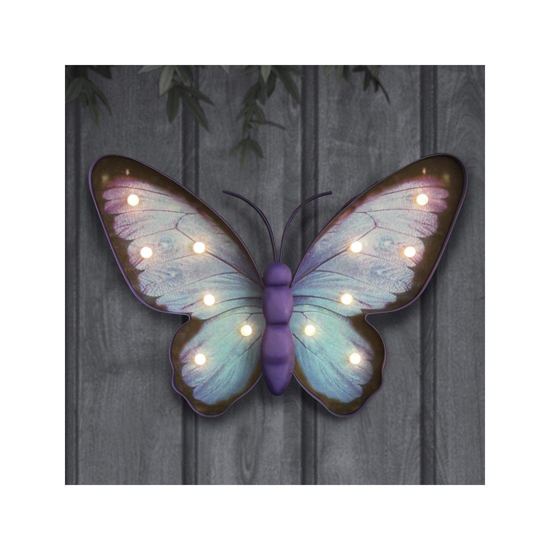 14 Inch Solar Metal Marquee Led Erfly Statue