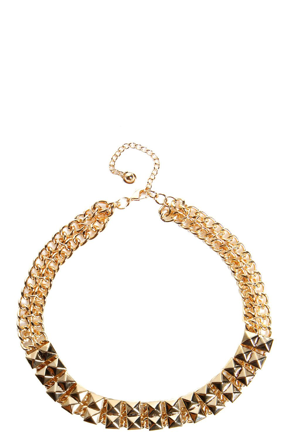 Lily Square Link Chain Necklace http://pixiie.net/shop/lily-square-link-chain-necklace-gold/