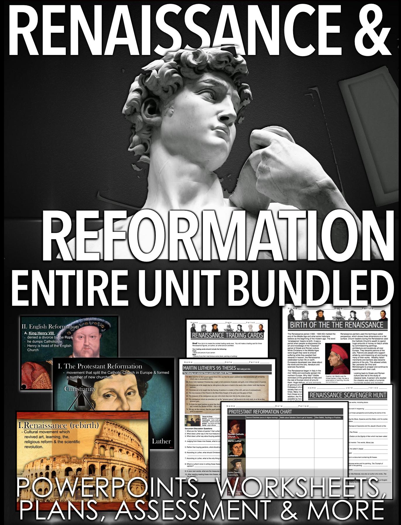 Renaissance And Reformation Unit