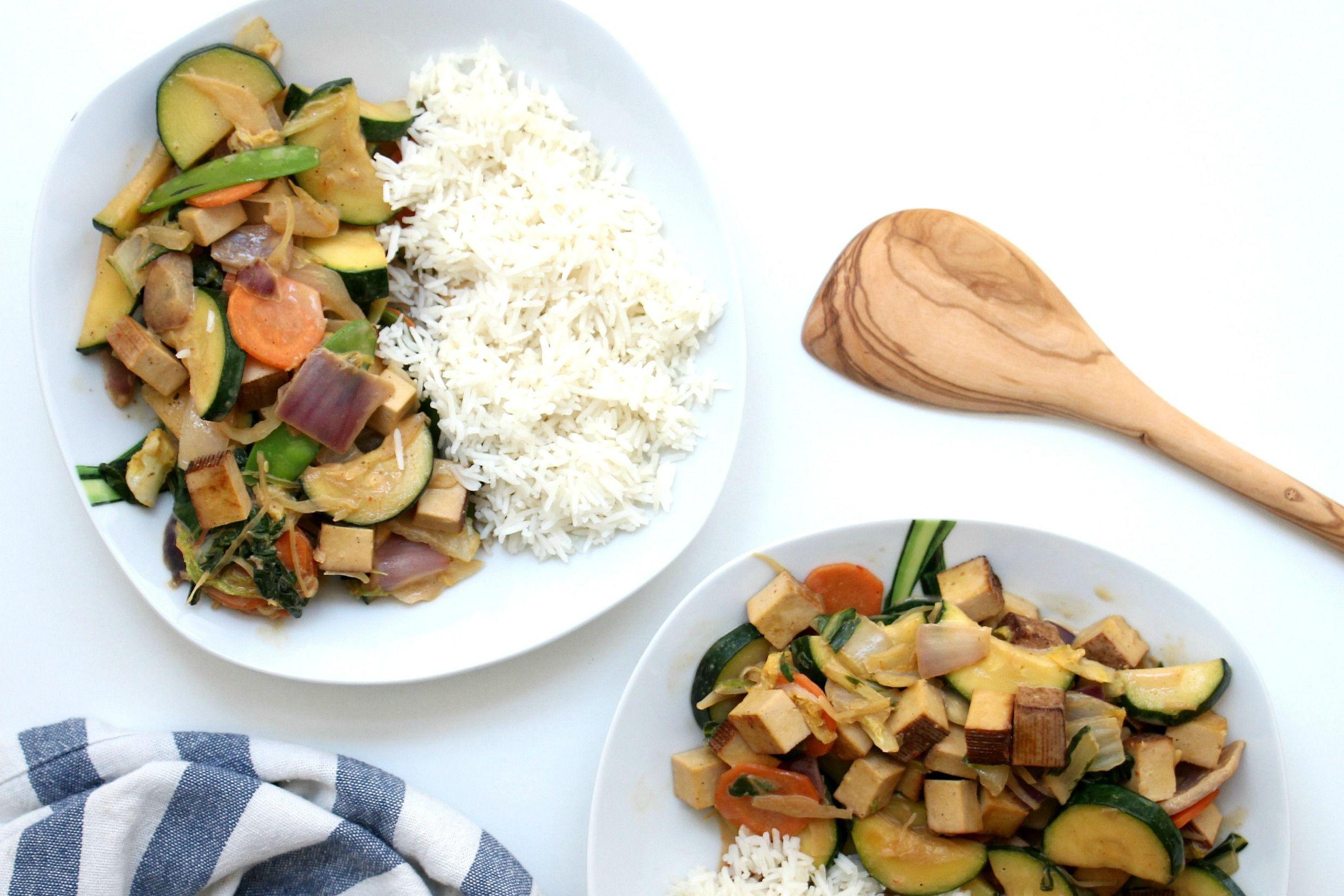 Cremiges Gemüse-Curry mit Basmatireis