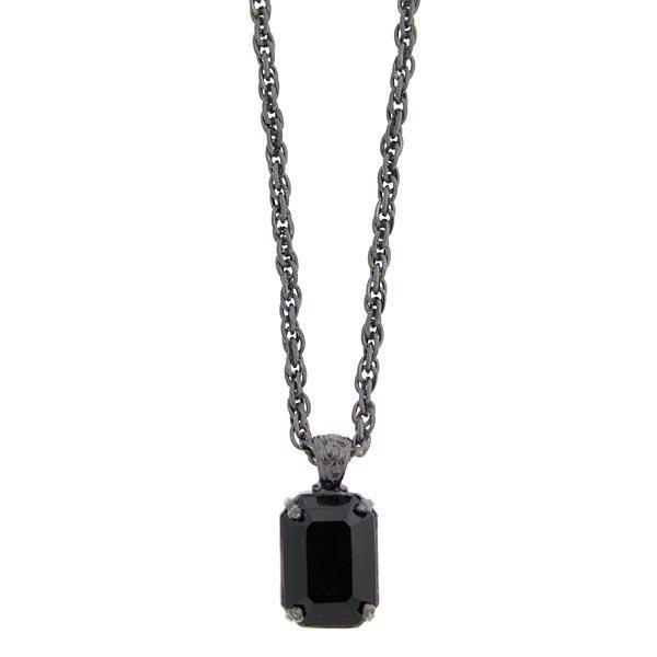 Bonne Nuit Emerald Cut Pendant Necklace