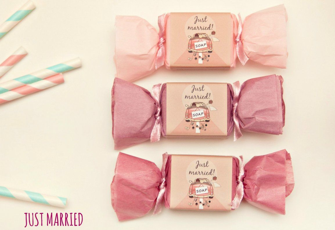 2 Have & 2 Hold \'\'Just married\'\' wedding soap, wedding favor ...