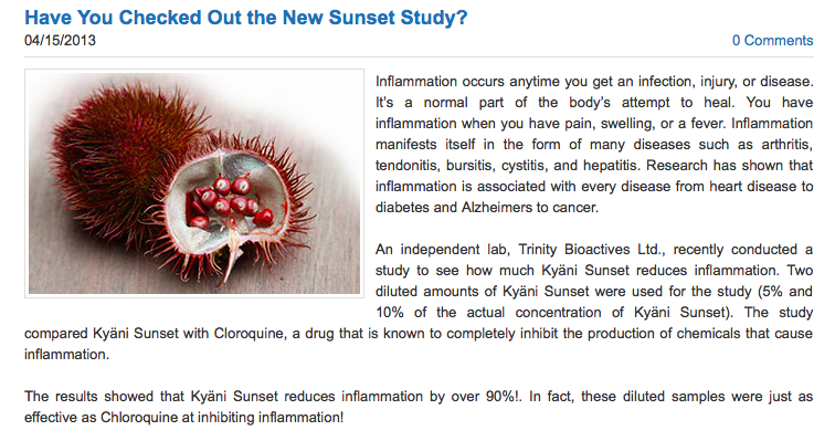 Irma Bennett: Have You Checked Out the New Kyani Sunset Study on Tocotrienols a… | FindSalesRep.com