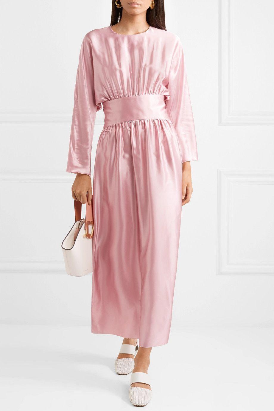 Cheap Sale Best Seller Hermine Silk-satin Midi Dress - Pastel pink Deitas Cheap Best Cheap Low Cost 6C3BoM
