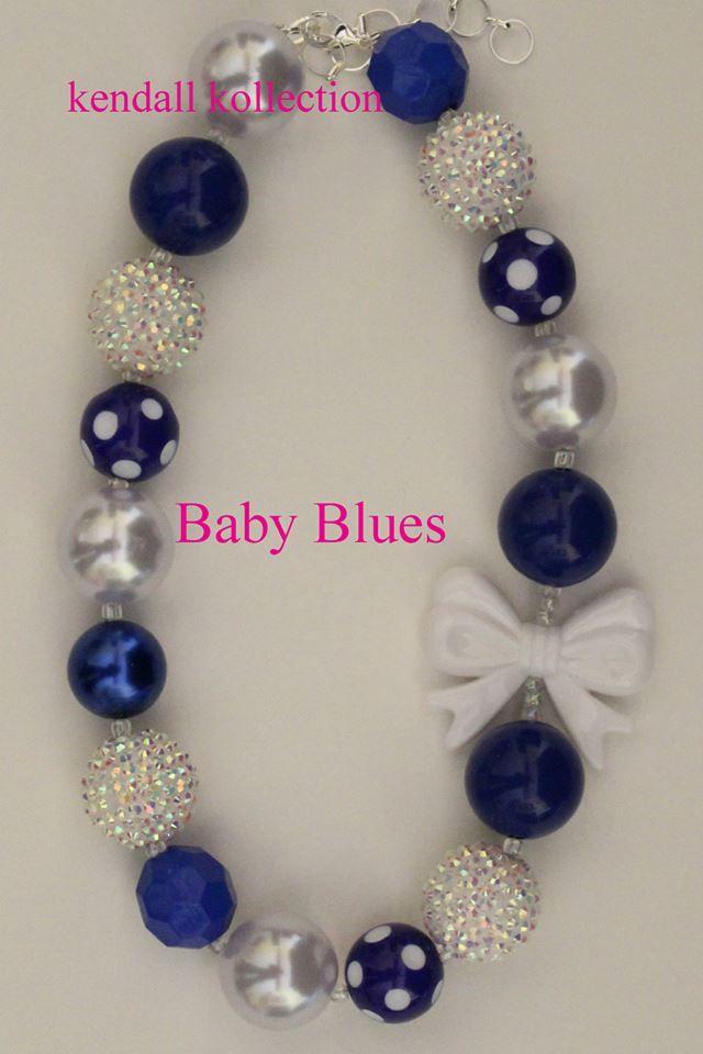 Grosses Perles chewing-gum Gumball Collier Enfants X-MAS Cadeau Bleu Fleur Rose Jewlery