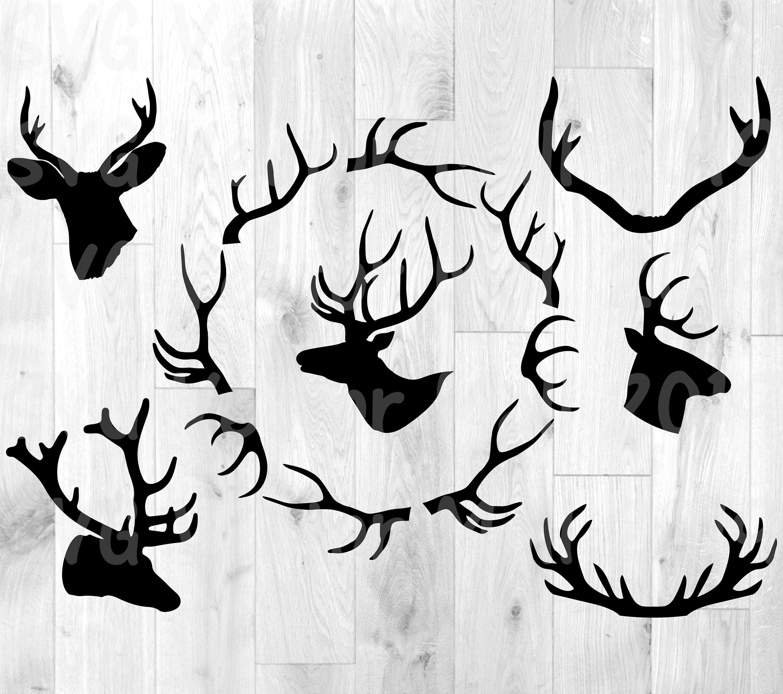 Deer Antlers Svg Deer Svg Hunting Svg Deer Clipart Antler Etsy In 2021 Antlers Deer Head Hunting Tattoos
