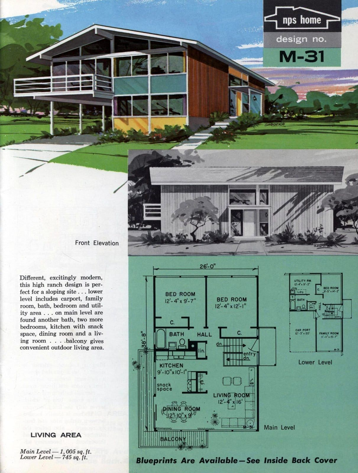 Pin By Jsj On Eich In 2020 Vintage House Plans Mid Century Modern House Plans Mid Century House