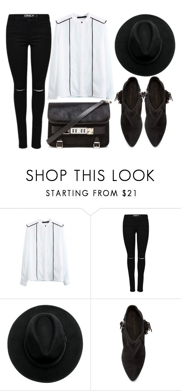 """street style"" by sisaez ❤ liked on Polyvore featuring Rebecca Minkoff, Proenza Schouler, women's clothing, women's fashion, women, female, woman, misses and juniors"