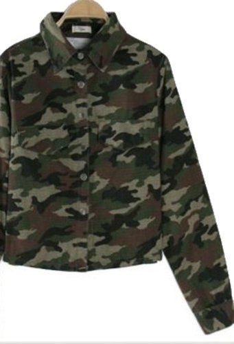 Street Camouflage Shirt Style Cropped Jacket   Street Camouflage Shirt Style Cropped Jacket  Style: Jean Jacket Material: Cotton, Polyester Pattern: Camouflage  http://www.beststreetstyle.com/street-camouflage-shirt-style-cropped-jacket-2/