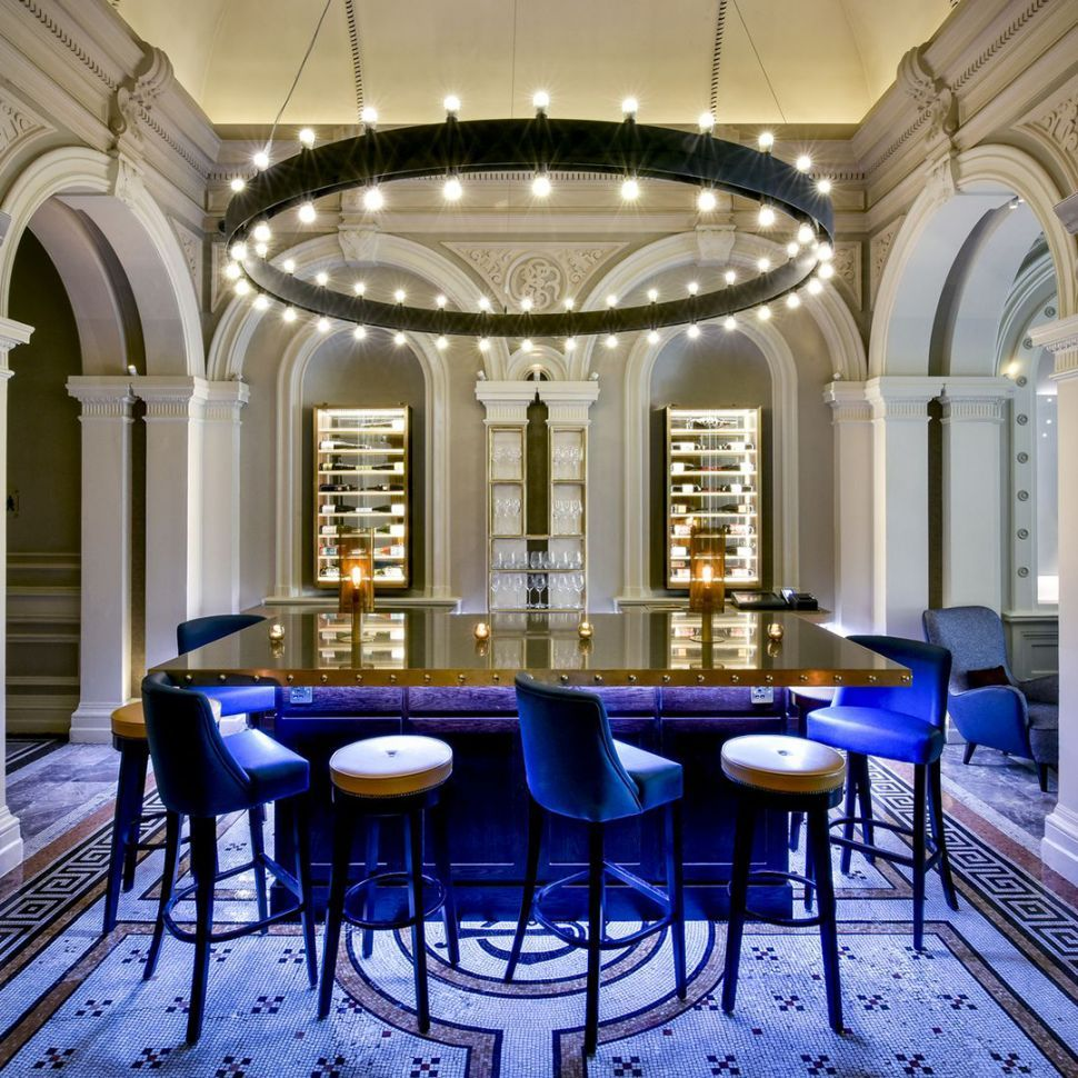 Feature Circular Pendant For 1901 Restaurant Wine Lounge Andaz Hotel Liverpool Street Interior Design