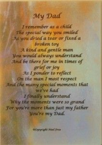 Birthday For Deceased Father Poems Dad