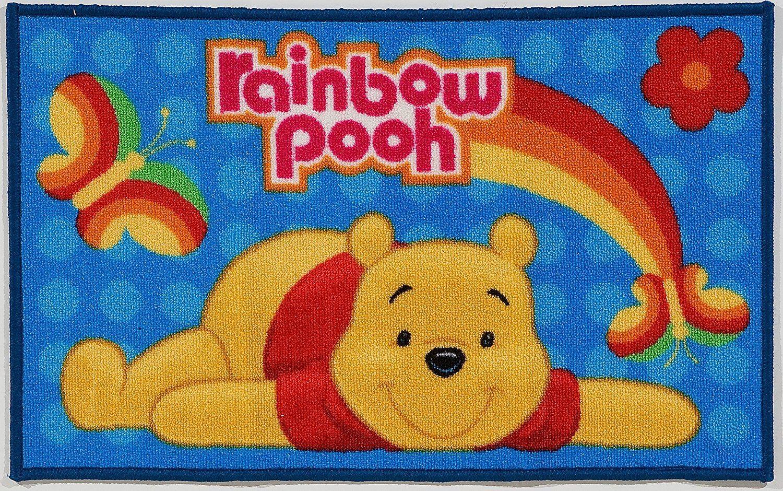 Kinder Teppich Kinderteppich mit Winnie the Pooh / Rainbow ...