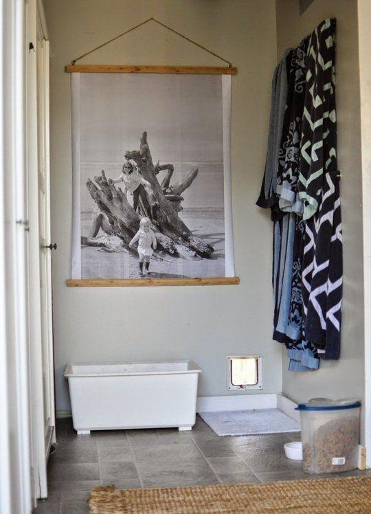 10 Diy Ways To Hang Really Large Art Large Art Diy Posters Diy Oversize Diy